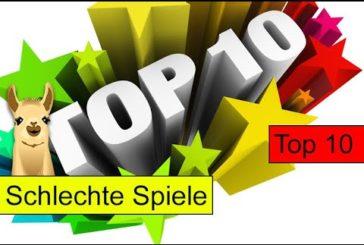 Spiele die Alex nicht mag / Top 10 / SpieLama
