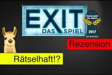 Exit - Das Spiel / Kennerspiel des Jahres 2017 / Anleitung & Rezension / SpieLama