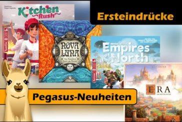 ► Neuheiten-Eindrücke - Pegasus Pressetag 2019 / Brettspiel - Deutsch / SpieLama