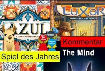Spiel des Jahres 2018 / Nominierungsliste / Azul, The Mind, Luxor / SpieLama
