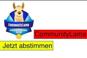 Communitylama 2016 / Jetzt abstimmen /  SpieLama