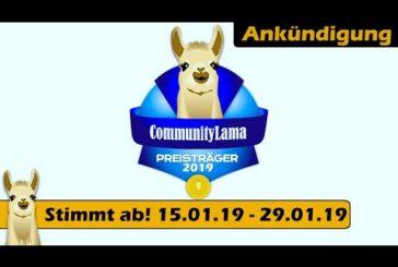 ► CommunityLama 2019 | Macht mit | Jetzt Spiele nominieren | SpieLama