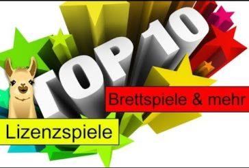 Die besten Lizenzspiele / Top 10 / SpieLama / Brettspiele & mehr