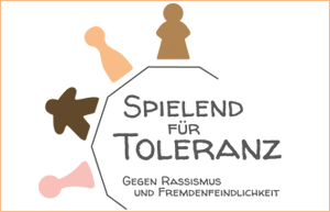 Spielend für Toleranz Banner